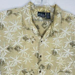 OP Short Sleeve Hawaiian Button Shirt XL